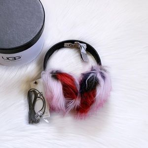 UGG Wired Faux Fur Patchwork Earmuffs